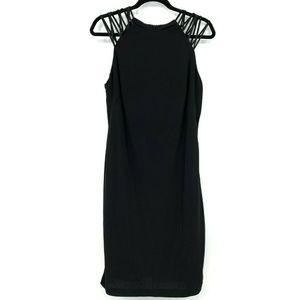 Lauren Ralph Lauren Black Strappy Jersey Dress